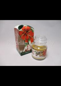 H.C.457-9902 Süti illatgyertya üvegben, karácsonyi, 10x6,5 cm