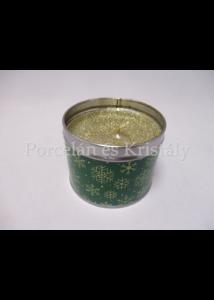 T.L.C.LP51371 Alma-fahéj fémdobozos illatgyertya 6,5x8cm
