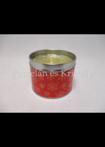T.L.C.LP51374 Vörös ribiszke-vörös áfonya fémdobozos illatgyertya 6,5x8cm