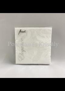 AMB.12504925 Elegance White papírszalvéta 25x25cm, 15db-os