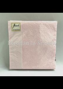 AMB.12504928 Elegance pink papírszalvéta 25x25cm, 15db-os