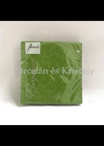 AMB.12504933 Elegance summer green dombornyomott papírszalvéta 25x25cm, 15db-os