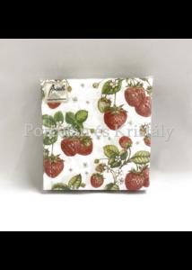 AMB.12506770 Strawberry Plant papírszalvéta 25x25cm, 20db-os