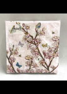 AMB.12509350 Blossom Rose papírszalvéta 25x25cm, 20db-os