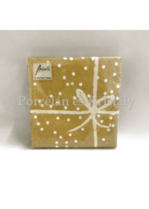 AMB.12509558 Wrapping Gold Pos. papírszalvéta 25x25cm, 20db-os