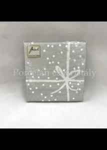 AMB.12509559 Wrapping Silver Pos. papírszalvéta 25x25cm, 20db-os