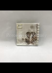 AMB.12509570 Winter Nature karácsonyi papírszalvéta 25x25cm, 20db-os