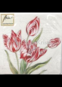 AMB.12511205 Tulipánok tavaszi papírszalvéta 25x25 cm, 20 db-os