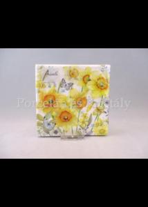 AMB.12512690 Tavaszi nárciszok papírszalvéta 25x25 cm, 20 db-os