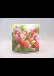 AMB.12512730 Tavaszi tulipánok papírszalvéta 25x25 cm, 20 db-os