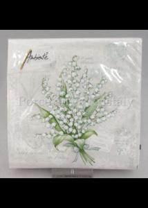 AMB.12512830 Gyöngyvirág tavaszi papírszalvéta 25x25 cm, 20 db-os