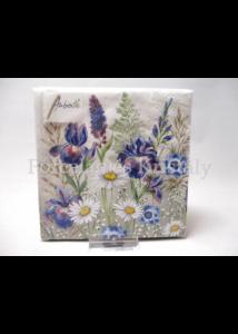 AMB.12513235 Mezei virágok papírszalvéta 25x25 cm, 20 db-os