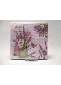 AMB.12514000 Levendula vázában papírszalvéta 25x25 cm, 20 db-os