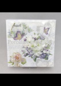 AMB.12514085 Szeretett virágok papírszalvéta 25x25 cm, 20 db-os