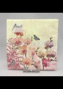 AMB.12514215 Keleti orchideák papírszalvéta 25x25 cm, 20 db-os