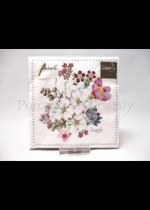 AMB.12515145 Réti virágok papírszalvéta 25x25 cm, 20 db-os