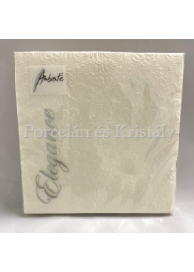 AMB.13304926 Elegance cream papírszalvéta 33x33cm, 15db-os