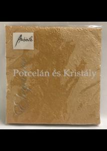 AMB.13305513 Elegance bronz papírszalvéta 33x33cm, 15db-os