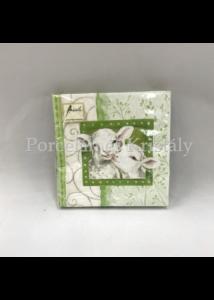 AMB.13307200 Henry and Daisy cream húsvéti papírszalvéta 33x33cm, 20db-os