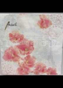 AMB.13308940 Rózsaszín orchideák papírszalvéta 33x33 cm, 20 db-os
