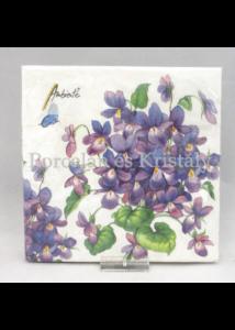 AMB.13309730 Ibolyák tavaszi papírszalvéta 33x33 cm, 20 db-os