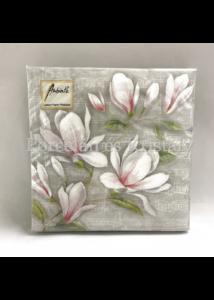 AMB.13309890 Musical Magnolia papírszalvéta 33x33cm, 20db-os
