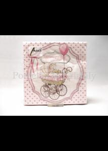 AMB.13312980 Welcome rózsaszín kislány papírszalvéta 33x33cm, 20 db-os