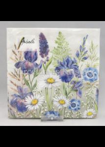 AMB.13313235 Mezei virágok papírszalvéta 33x33 cm, 20 db-os