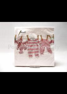 AMB.13313980 Rózsaszín kislány ruhák papírszalvéta 33x33cm, 20 db-os
