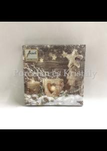 AMB.32505005 Natural X-Mas karácsonyi papírszalvéta 25x25cm, 20db-os