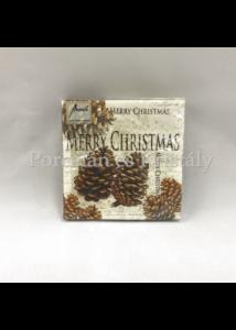 AMB.32505020 Cones karácsonyi papírszalvéta 25x25cm, 20db-os