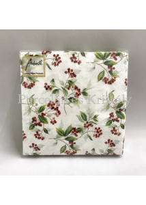 AMB.32510505 Winter Foliage papírszalvéta 25x25cm, 20db-os