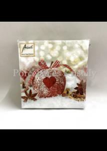 AMB.32510560 Heart On Apple karácsonyi papírszalvéta 25x25cm, 20db-os