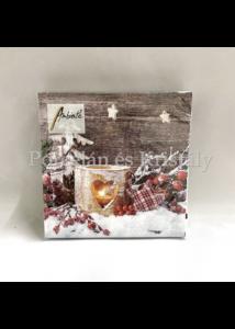 AMB.32511950 Birch Candlelight karácsonyi papírszalvéta 25x25cm, 20db-os