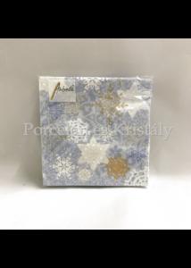 AMB.32513741 Delicate Stamps Blue karácsonyi papírszalvéta 25x25cm, 20db-os