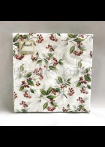 AMB.33310505 Winter Foliage papírszalvéta 33x33cm, 20db-os