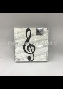 PPD.B1251787 I Love Music papírszalvéta 25x25cm, 20db-os
