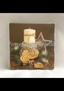 VRP-BA/FEH-GYERTYÁS karácsonyi papírszalvéta 33x33cm, 15 db-os