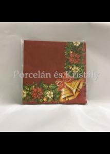 VRP-BO/AR-CSENGŐS karácsonyi papírszalvéta 33x33cm, 15 db-os