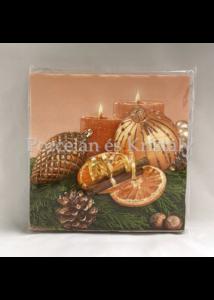 VRP-NARANCS-GÖMBÖS karácsonyi papírszalvéta 33x33 cm, 15 db-os