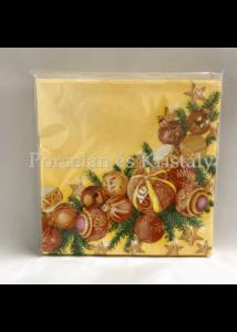 VRP-S/PIR-GÖMBÖS karácsonyi papírszalvéta 33x33 cm, 15 db-os
