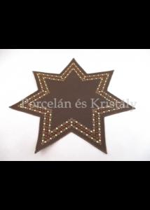 Csillag formájú kis terítő, 30 cm-es