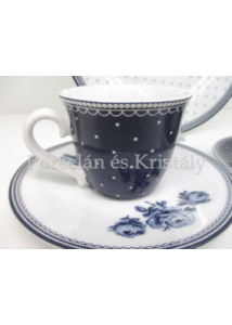 K.C.5176093 Floral Vintage Indigo reggeliző szett, 3 részes