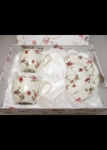 D.G.24180 Safa porcelán mokkacsésze szett 2 személyes, 4 részes, díszdobozban