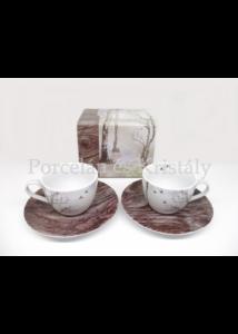 R2S.921DRAM Faded Dreams porcelán mini-mokka szett 2 személyes, 4 részes, díszdobozban