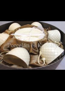 V.B.17772 Amber Porcelán csésze szett 6 személyes, 12 részes, díszdobozban