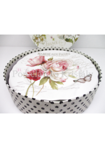 R2S.615FLEU Marche Aux Fleurs porcelán desszerttányér szett 4db-os, díszdobozban