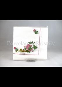 Hollóházi Hortenzia mintás papírszalvéta 33x33cm, 20db-os