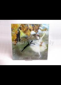 D.I.19-25 Üveg falióra Degas: A tánc csillaga, 30x30x2 cm