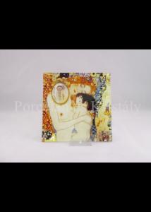 H.C.198-1006 Üvegtál Klimt: Anya gyermekével,  0,5x13x13 cm